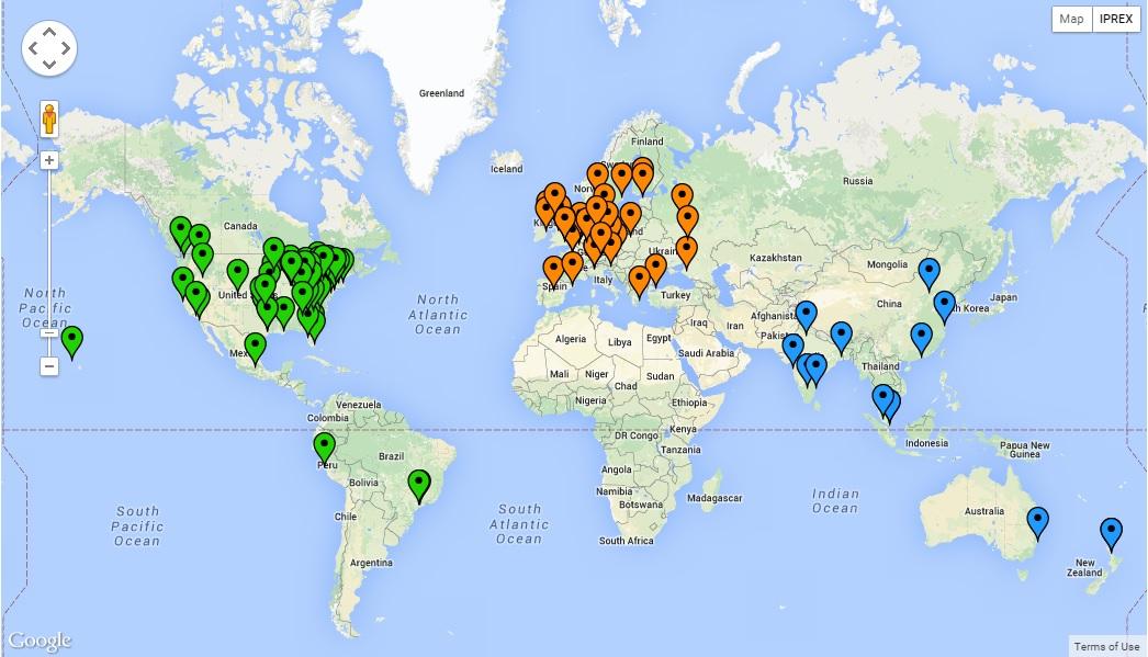 IPREX Map