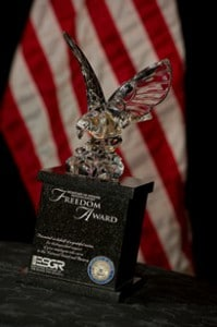 DoD Encourages Guardsmen and Reservists to Nominate Employers for  2013 Secretary of Defense Employer Support Freedom Award