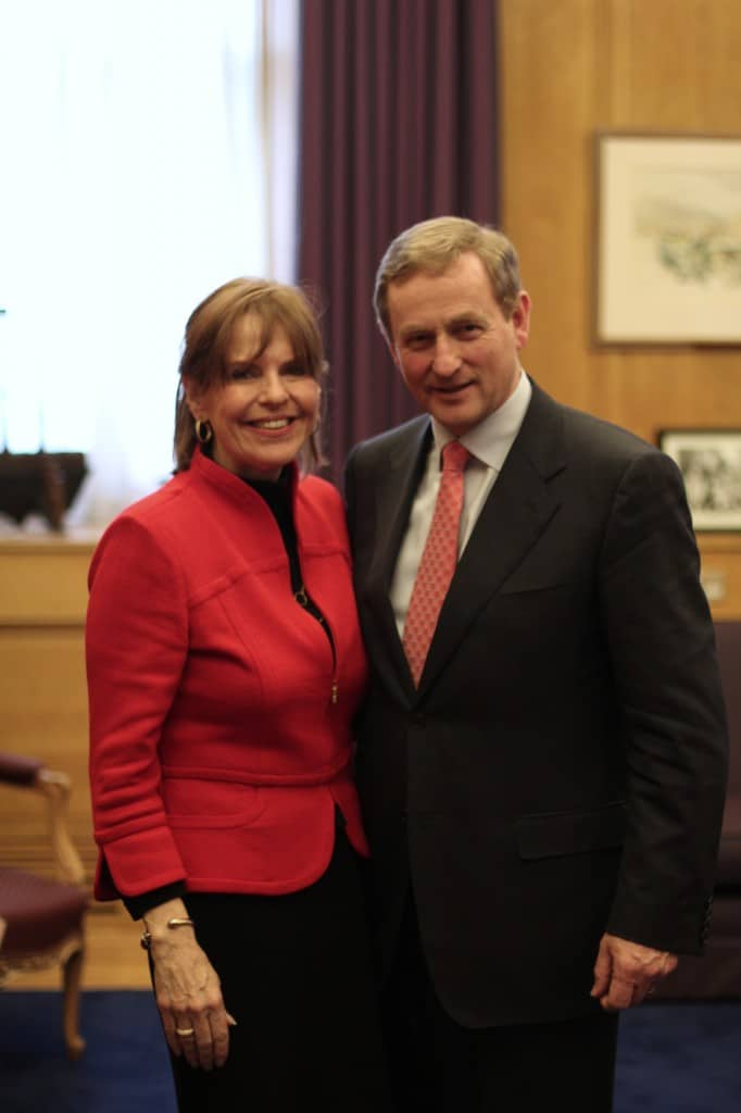 Susan Davis with Taoiseach Enda Kenny