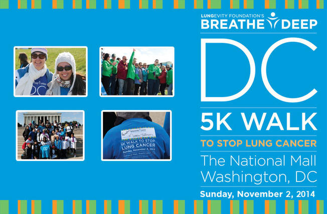 THIS SUNDAY LUNGEVITY HOSTS BREATHE DEEP DC 5K ON NATIONAL MALL