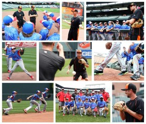 The Savage Eagles, a Boys and Girls Club's U12 baseball team, received a fielding lesson and behind-the-scenes tour at Oriole Park with third base coach Bobby Dickerson and shortstop J.J. Hardy. Photo Credit: The Baltimore Orioles