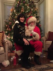 Susan Davis International judy and Santa Claus holiday party