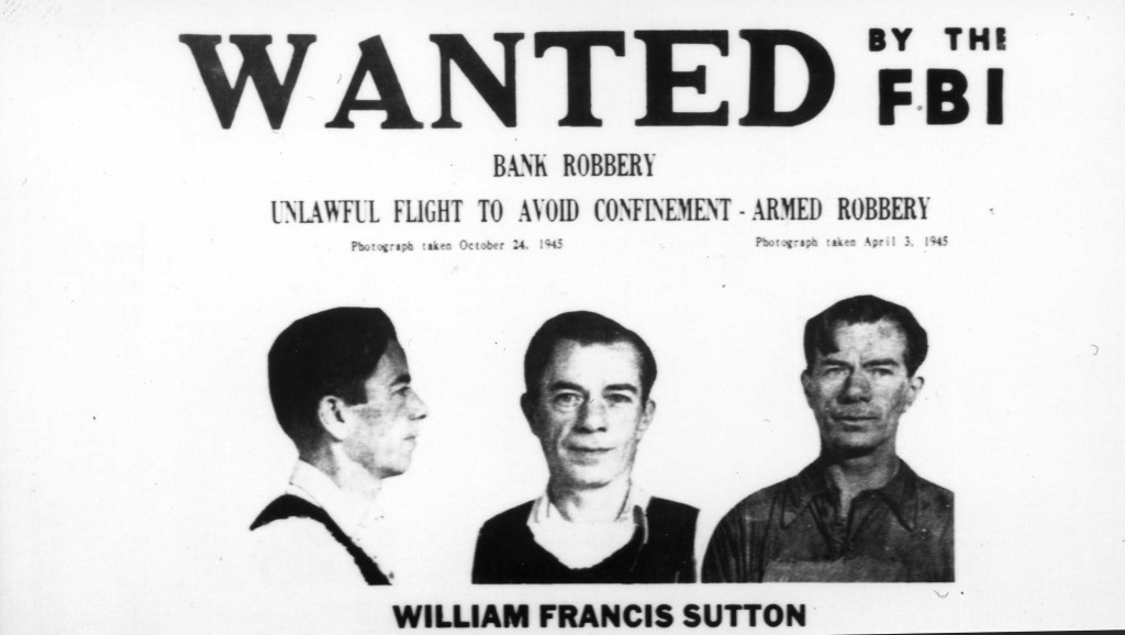 williesutton bank robber fbi