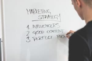 Marketing Strategy on whiteboard