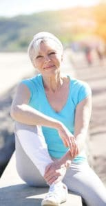 Portrait of senior woman in fitness outfit