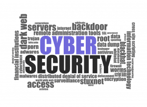 Cybersecurity word cloud