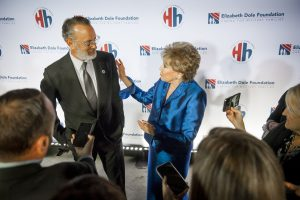 Tom Hanks and Elizabeth Dole