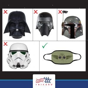 DHA Covid-19 mask graphic
