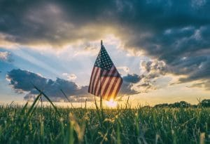 Memorial Day Flag graphic